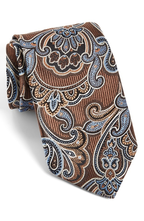 Paisley Silk Tie by J.Z. Richards in Black Mass