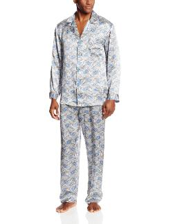 Men's Cypress Silk Dot Patterned Pajama by Majestic International in Dumb and Dumber To
