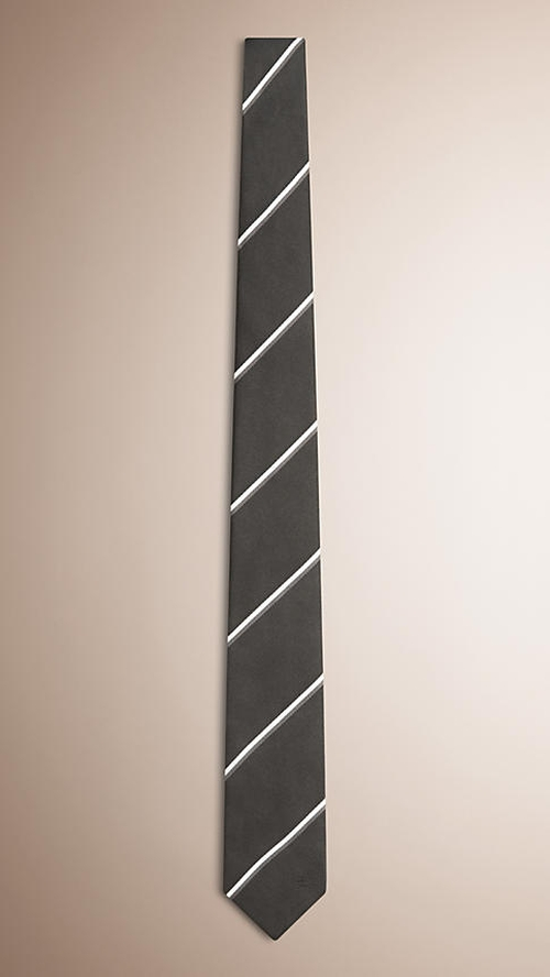 Striped Silk Tie by Burberry in The Departed