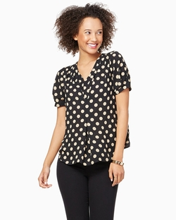 Polka Dot V-Neck Top by Charming Charlie in New Girl