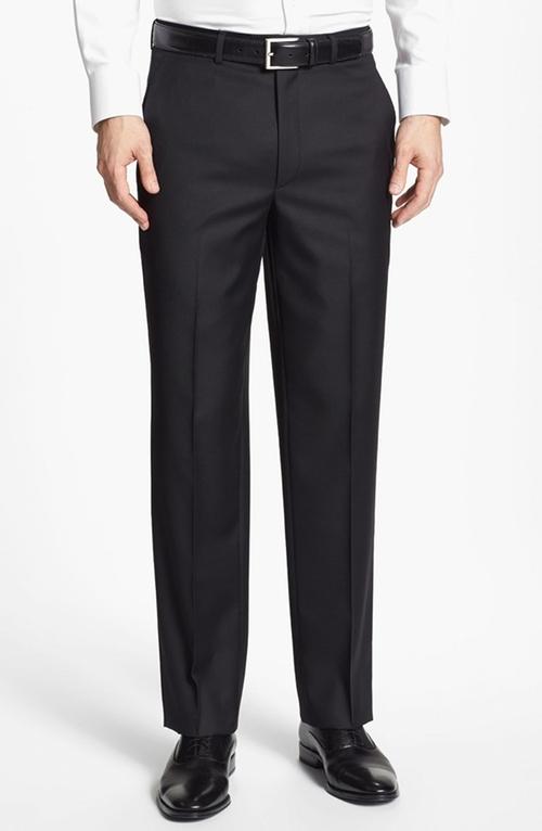 Flat Front Wool Trouser Pants by Santorelli in Ballers - Season 1 Episode 2