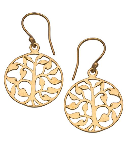 Round Tree Drop Earrings by Flying Lizard in Couple's Retreat