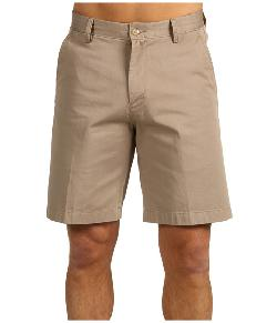 True Khaki Flat Front Short by Nautica in Blended