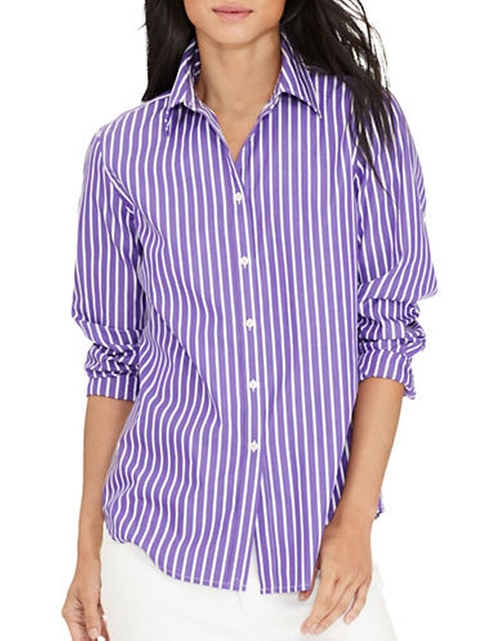 Striped Cotton Shirt by Lauren Ralph Lauren in High School Musical 3: Senior Year