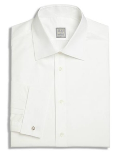 French Cuff Solid Dress Shirt by Ike Behar in Suits
