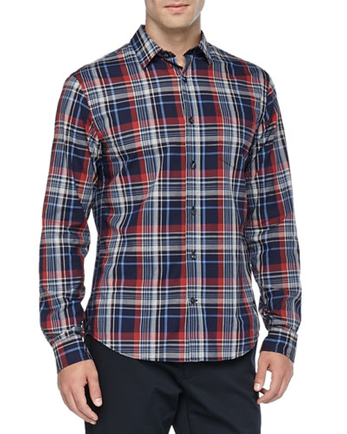 Plaid Button-Down Shirt by Vince in Master of None - Season 1 Episode 4