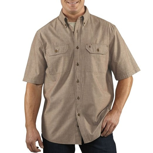 Short Sleeve Shirt Lightweight Button Shirt by Carhartt in Fast Five