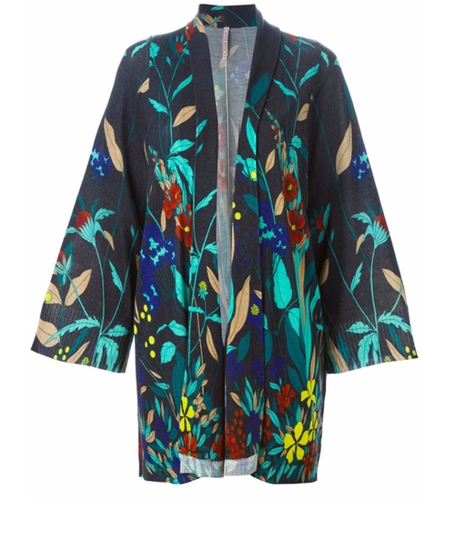 Floral Print Knitted Kimono by Antonio Marras in Unbreakable Kimmy Schmidt - Season 2 Preview!