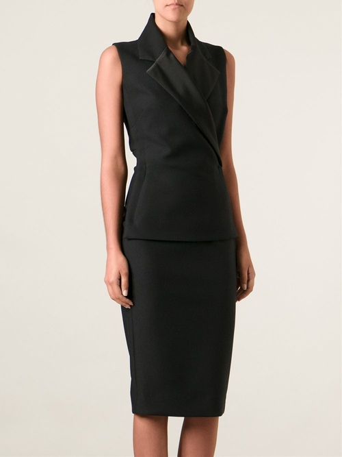 Tux Lapel Fitted Dress by Victoria Beckham in How To Get Away With Murder - Season 2 Episode 2