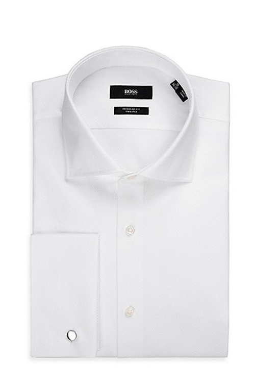 Spread Collar Cotton French Cuff Dress Shirt by Boss in The Hangover