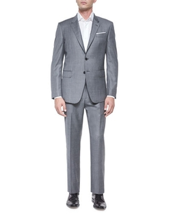 Bayard Sharkskin Two-Piece Wool Suit by Paul Smith	 in Empire