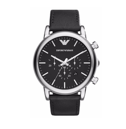 Chronograph Leather Strap Watch by Emporio Armani in Daddy's Home 2