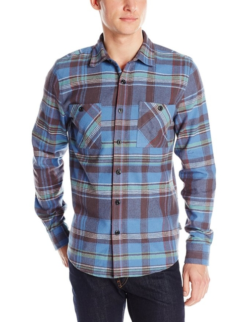 Men's Slim-Fit Plaid Long-Sleeve Button-Front Shirt by Threads 4 Thought in The Big Bang Theory - Season 9 Episode 4