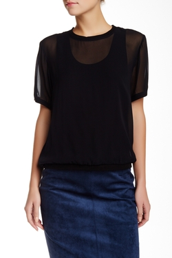 Knit Lined Silk Blouse by BCBGMaxazria in The Flash