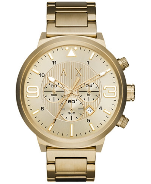 Men's Chronograph Stainless Steel Bracelet Watch by Armani Exchange in Popstar: Never Stop Never Stopping