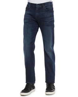 Standard-Fit Marine Denim Jeans by 7 For All Mankind in Modern Family