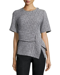Paneled Braided Jacquard Tee by 3.1 Phillip Lim in Mistresses