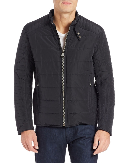 Quilted Moto Jacket by Andrew Marc in Triple 9