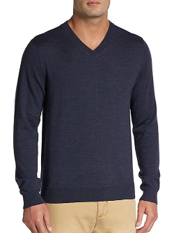 Wool V-Neck Sweater by Saks Fifth Avenue Black in The Best of Me