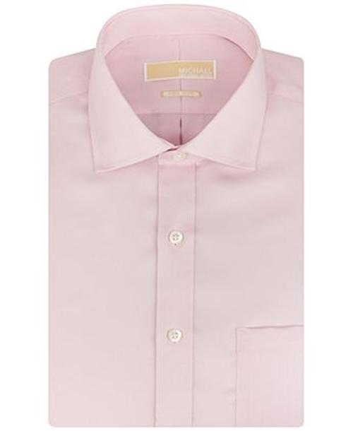 Non-Iron Twill Solid Dress Shirt by Michael Kors in Neighbors