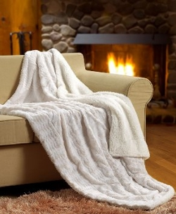 Faux Fur Sherpa Throw Blanket by Tache Home Fashion in Ant-Man