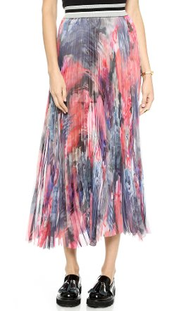 Chiffon Pleated Skirt by MSGM in The Boy Next Door