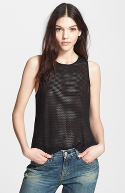 Atlantis Mesh Tank by Rag & Bone/Jean in Self/Less