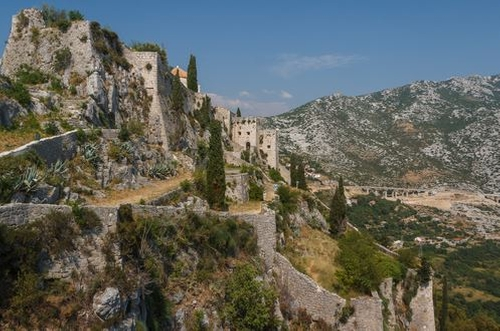 Fortress of Klis (Depicted as Meereen) Klis, Croatia in Game of Thrones - Season 6 Episode 10 - The Winds of Winter