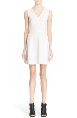 Sleeveless V-Neck Fit & Flare Dress  by Vince  in The Notebook