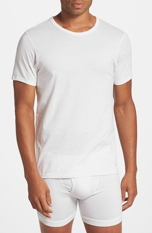 Slim Fit Cotton Crewneck T-Shirt by Calvin Klein in Ballers - Season 1 Episode 4