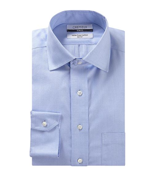 Slim-Fit Spread-Collar Dress Shirt by CREMIEUX in Million Dollar Arm