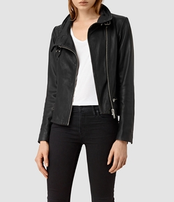Bales Leather Biker Jacket by All Saints in Mistresses