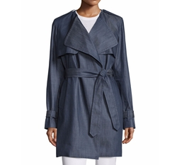Denim Wrap Trenchcoat by Diane von Furstenberg in Designated Survivor