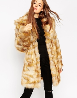 Vintage Faux Fur Coat by Asos Collection in American Horror Story
