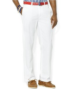 Classic-Fit Flat-Front Chino Pants by Polo Ralph Lauren in While We're Young