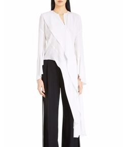 Asymmetrical Silk Blouse by Givenchy in Suits