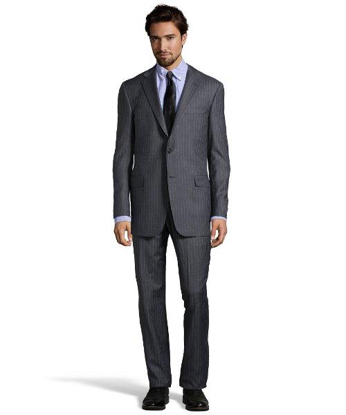 Pinstripe Super 150s Wool Suit by Hickey Freeman in John Wick