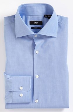 'Miles' Sharp Fit End-On-End Dress Shirt by Boss Hugo Boss in While We're Young