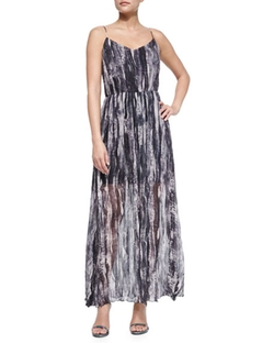 Painted Wave Silk Maxi Dress by Andrew Marc in Grace and Frankie