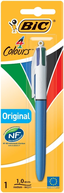 Four-Color Ballpoint Pen by BIC America in Thor
