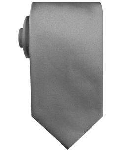 Satin Solid Extra Long Tie by Geoffrey Beene in Southpaw