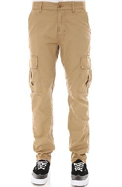 Slim Straight Cargo Pants in British Khaki by The LRG Core Collection in Oculus
