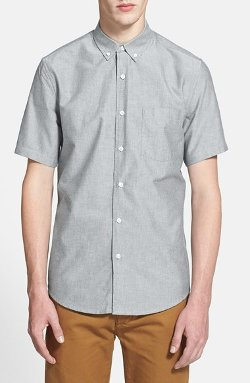Short Sleeve Oxford Shirt by Topman in If I Stay