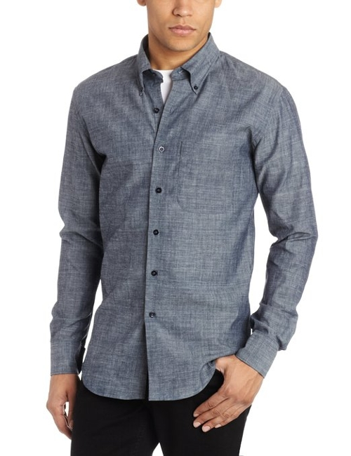 Slim Fit Shirt by Naked & Famous Denim in Before I Wake