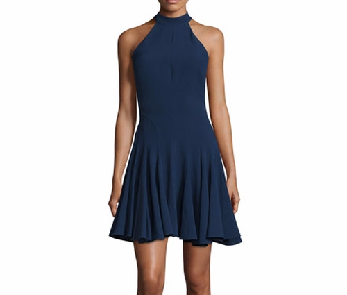 Halter-Neck Fit-&-Flare Cocktail Dress by Jovani in Jane the Virgin
