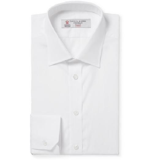 White Cotton Shirt by Turnbull & Asser in The Great Gatsby