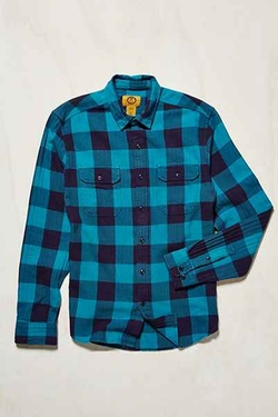 Herringbone Buffalo Plaid Flannel Workshirt by Stapleford in Modern Family