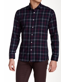 John Plaid Long Sleeve Shirt by Billy Reid in Silicon Valley