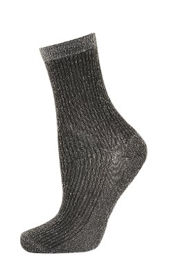 Gunmetal Ribbed Glitter Socks by Topshop in If I Stay