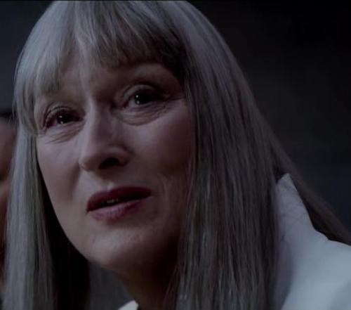 Custom Made Chief Elder White Skirt Suit by Diana Cilliers (Costume Designer) in The Giver